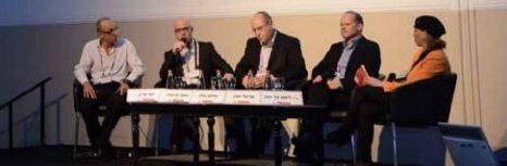 """מימין: עו""""ד ליאת הרטוב, אריאל מונין, שלמה מילר, אסף מיכאלי, יוסי פרץ"""