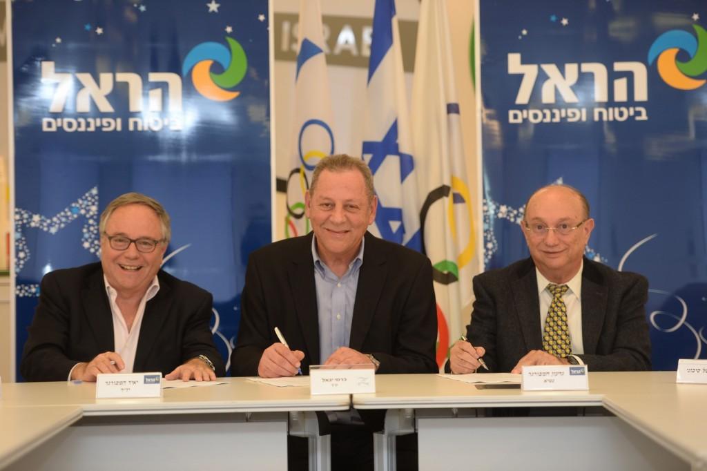 גדעון המבורגר, יגאל כרמי, יאיר המבורגר | צילום: באדיבות הוועד האולימפי בישראל