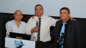 מימין: עמוס גואטה, אודי הוד ואורי ששון